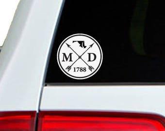 Maryland Arrow Year Car Window Decal Sticker