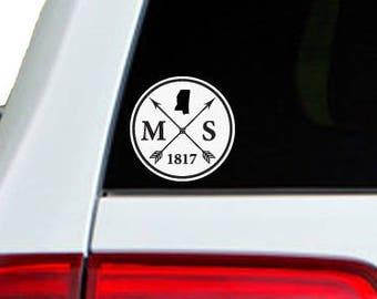 Mississippi Arrow Year Car Window Decal Sticker
