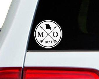 Missouri Arrow Year Car Window Decal Sticker