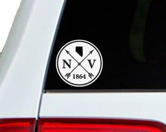 Nevada Arrow Year Car Window Decal Sticker