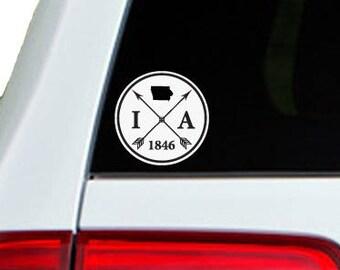 Iowa Arrow Year Car Window Decal Sticker