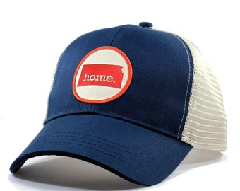 Homeland Tees Kansas Home Trucker Hat - Red Patch