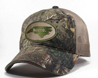 Homeland Tees North Carolina Home State Realtree Camo Trucker Hat