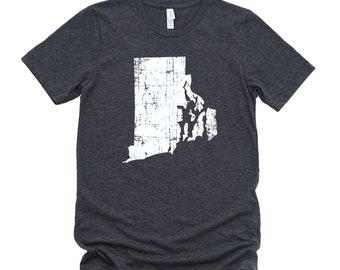 Homeland Tees Rhode Island State Vintage Look Distressed Unisex T-shirt