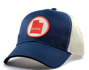 Homeland Tees Utah Home Trucker Hat - Red Patch