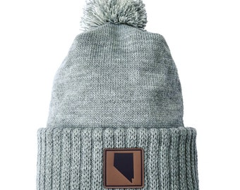 Homeland Tees Nevada Leather Patch Cuff Beanie