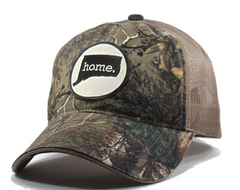 Homeland Tees Connecticut Home State Realtree Camo Trucker Hat