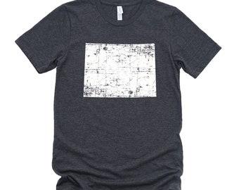 Homeland Tees Wyoming State Vintage Look Distressed Unisex T-shirt
