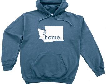 Homeland Tees Washington Home Pullover Hoodie Sweatshirt