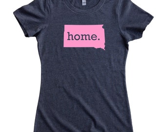 South Dakota Home State T-Shirt Women's Tee PINK EDITION - Sizes S-XXL
