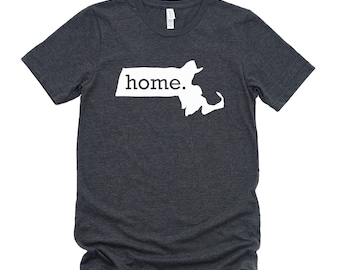 Homeland Tees Massachusetts Home State T-Shirt - Unisex