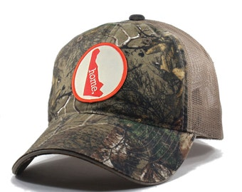 Homeland Tees Delaware Home State Realtree Camo Trucker Hat