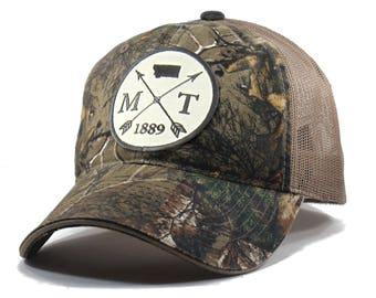 Homeland Tees Montana Arrow Hat - Realtree Camo Trucker