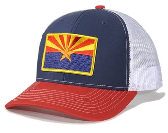 Homeland Tees Arizona Flag Patch Trucker Hat
