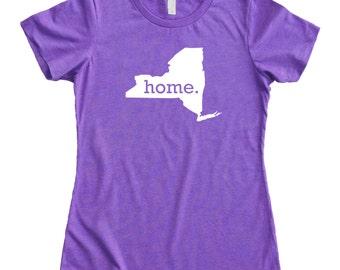 Homeland Tees New York Home State Women's T-Shirt
