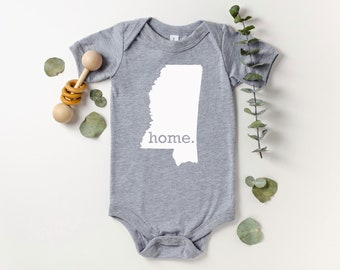Homeland Tees Mississippi Home Bodysuit Coming Home Outfit Shower Gift Newborn Baby Boy Girl