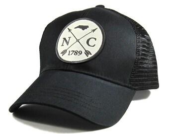 Homeland Tees North Carolina Arrow Hat - All Black Trucker