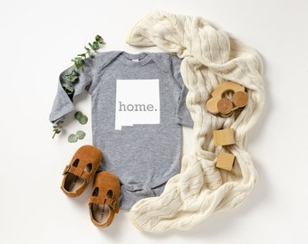 Homeland Tees New Mexico Home Unisex Long Sleeve Baby Bodysuit