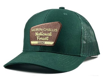 Homeland Tees Salmon Challis National Forest Idaho Patch Trucker Hat