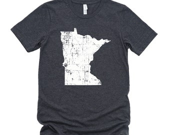Homeland Tees Minnesota State Vintage Look Distressed Unisex T-shirt