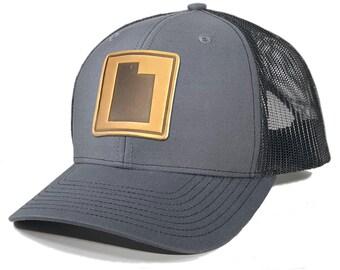 Homeland Tees Utah Leather Patch Trucker Hat