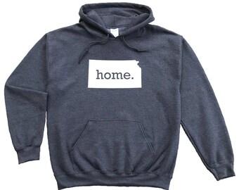 Homeland Tees Kansas Home Pullover Hoodie Sweatshirt