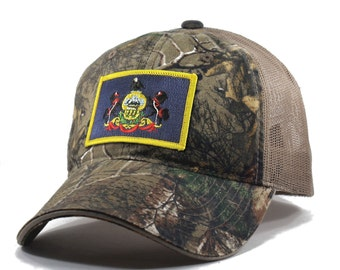 Homeland Tees Pennsylvania Flag Hat - Realtree Camo Trucker