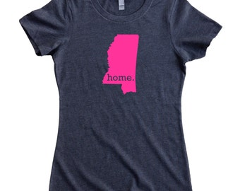 Mississippi Home State T-Shirt Women's Tee PINK EDITION - Sizes S-XXL