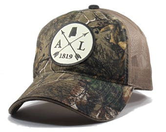 Homeland Tees Alabama Arrow Hat - Realtree Camo Trucker