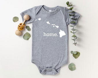 Homeland Tees Hawaii Home Bodysuit Coming Home Outfit Shower Gift Newborn Baby Boy Girl