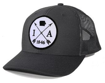 Homeland Tees Iowa Arrow Patch Trucker Hat