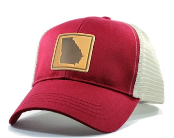 Homeland Tees Georgia Leather Patch Hat - Trucker