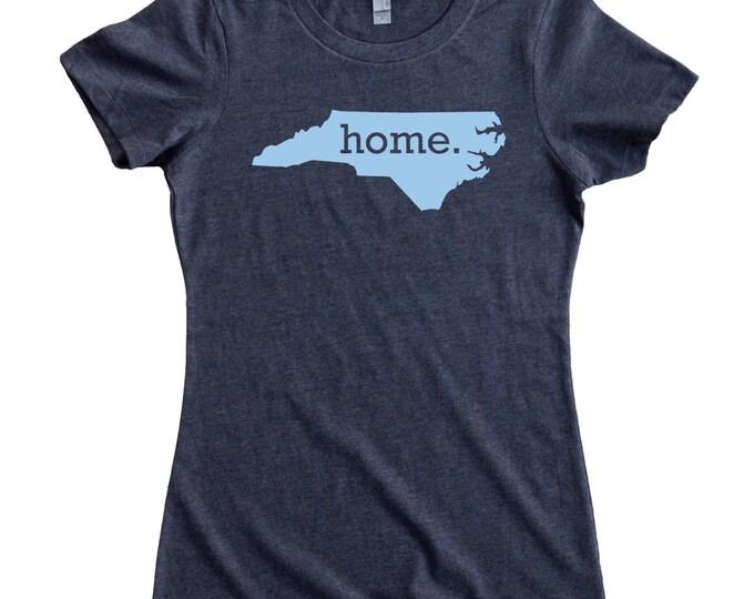 Featured listing image: North Carolina Home State T-Shirt Women's CAROLINA BLUE Logo Sizes S-XXL