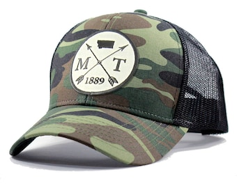 Homeland Tees Montana Arrow Hat - Army Camo Trucker
