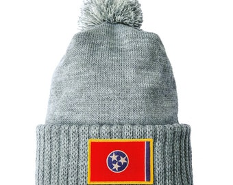 Homeland Tees Tennessee Flag Patch Cuff Beanie