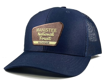Homeland Tees Manistee National Forest Michigan Patch Trucker Hat