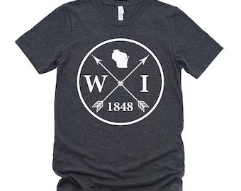 Homeland Tees Unisex Wisconsin Arrow T-Shirt