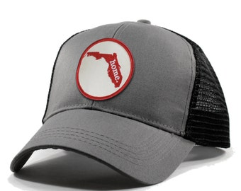 Homeland Tees Florida Home Trucker Hat - Red Patch
