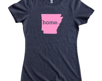 Homeland Tees Arkansas Home State Women's T-Shirt PINK EDITION