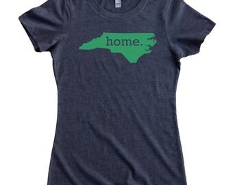 North Carolina Home State T-Shirt Women's GREEN LOGO Sizes S-XXL