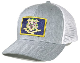 Homeland Tees Connecticut Flag Patch Trucker Hat