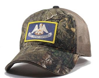 Homeland Tees Louisiana Flag Hat - Realtree Camo Trucker