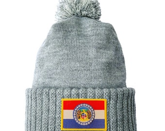Homeland Tees Missouri Flag Patch Cuff Beanie