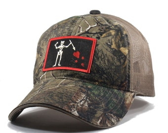 Homeland Tees Blackbeard Pirate Flag Realtree Camo Trucker Hat