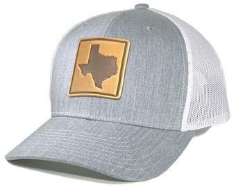 Homeland Tees Texas Leather Patch Trucker Hat