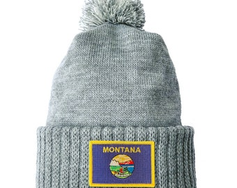 Homeland Tees Montana Flag Patch Cuff Beanie