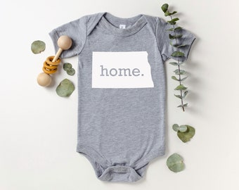 Homeland Tees North Dakota Home Bodysuit Baby Boy Girl Newborn Coming Home Outfit Shower Gift