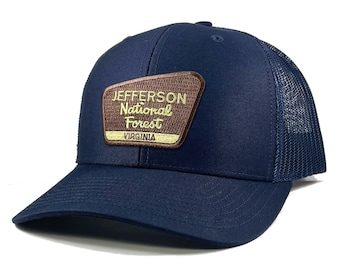 Homeland Tees Jefferson National Forest Appalachian Mountains Patch Trucker Hat