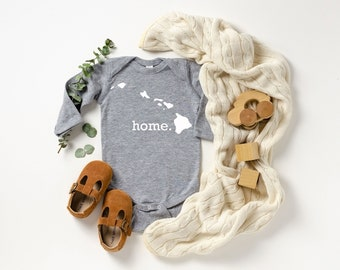 Homeland Tees Hawaii Home Unisex Long Sleeve Baby Bodysuit