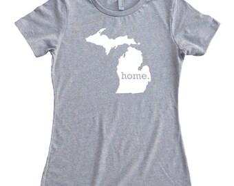 Homeland Tees Michigan Home State Women's T-Shirt